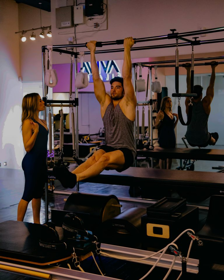 Pull-ups on the Cadillac Trapeze Table